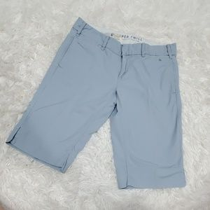 Anthropologie G1 Paper twill  blue Bermuda shorts